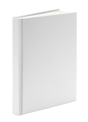 Blank white book on white with clipping path