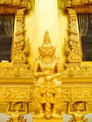 Giant golden sculpture