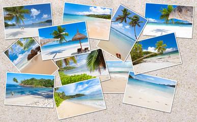 photos des Seychelles sur le sable