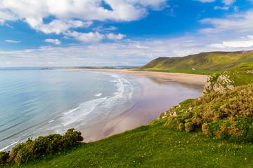 Fototapete - Rhossili Bay Wales UK