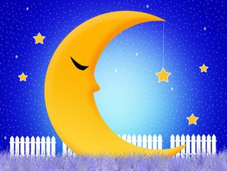 the moon sleeps