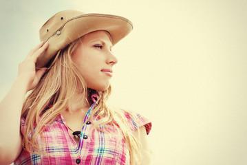 Beautiful woman. Cowgirl