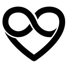 Infinity heart symbol, forever, vector