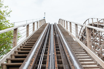 Large wooden rollercoaster