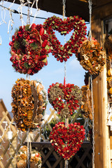 Christmas market at Rathausplatz, Vienna, Austria
