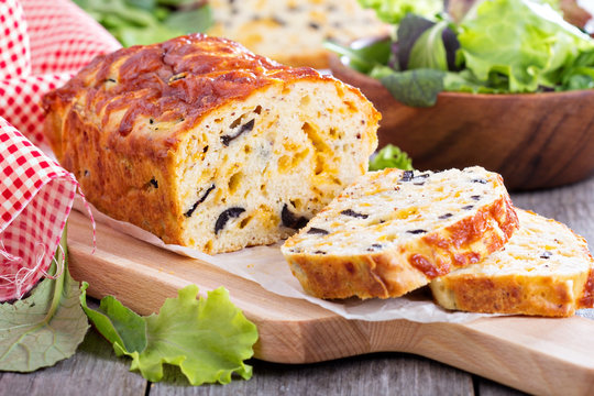 Savory cheese loaf with olives