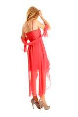 Frau in festlicher Kleidung