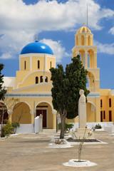 Wall Mural - Church of Agios Georgios in Oia, Santorini