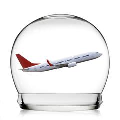 Fototapete - Snowball travel concept
