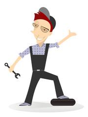 Cartoon mechanic vector illustration