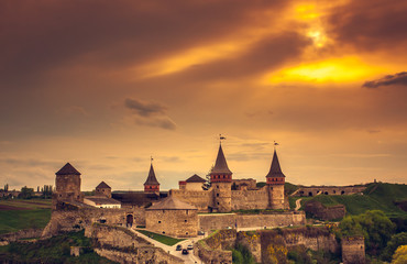 Foto op Canvas Ridders Kamianets-Podilskyi castle