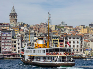 Galata Tower in istanbul,Turkey