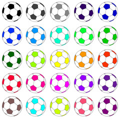 colorful football set 02