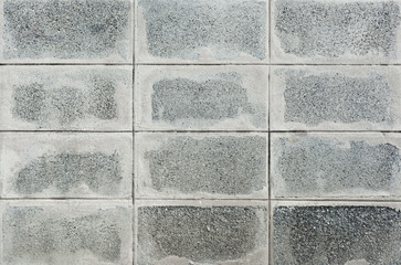 Old concrete block wall background.