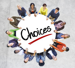 Group of Diverse People in Circle Holding Hands