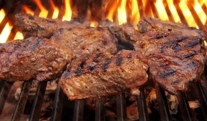 Foto op Textielframe Steakhouse Grilled Beef Steaks.