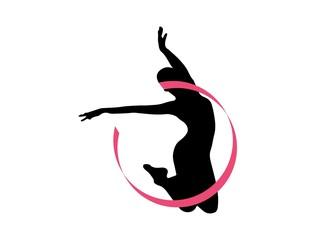 logo dancer silhouette ballet symbol icon dancing
