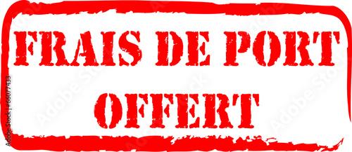 Tampon frais de port offert fichier vectoriel libre de droits sur la banque d 39 images fotolia - Lamaloli frais de port offert ...