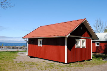 Fischerhütten am Meer