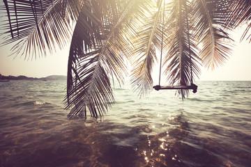 Naklejka premium Tropikalna plaża