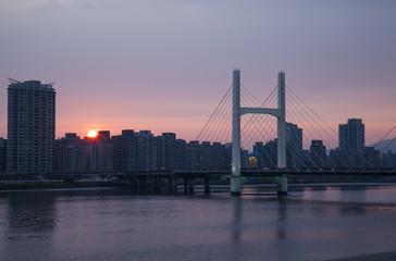 The sun set of H bridge