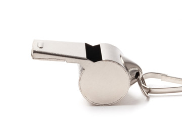 Referee Whistle - Stock Image