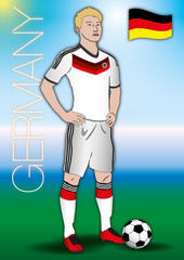 germany soccer player with uniform
