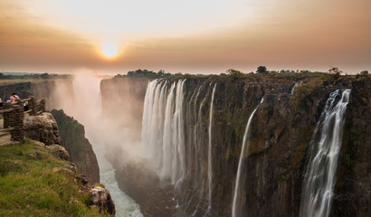 Victoria Falls sunset Wall mural