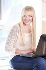 portrait with a laptop