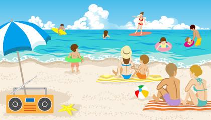 People in Summer beach
