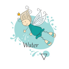 Cute little fairy of water.  One of the four elements.