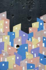 Favela Graffiti in Bright Colors Rio de Janeiro Brazil