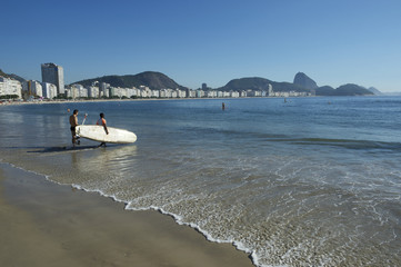 Stand Up Paddle Surfboard Copacabana Rio Brazil