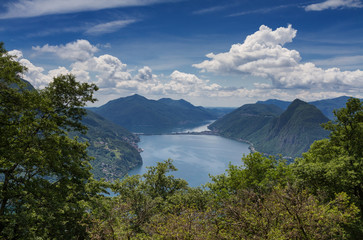 Viewpoint Monte Bre towards Lake Lugano