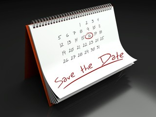 Save the date important day, calendar concept