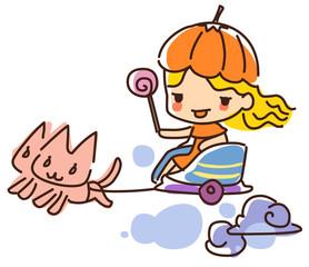 Illustration of Halloween day