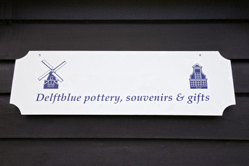 Souvenir sign, Netherlands, Europe.