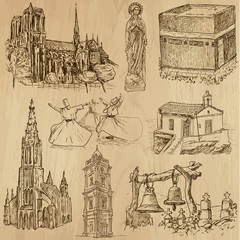 Religious no.7 - Vector pack, hand drawings