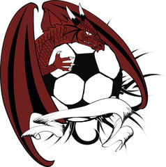 dragon crest coat of arms tattoo soccer0