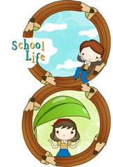 Illustration of new semester