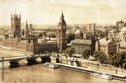 Wall mural nostalgisches London