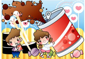 Illustration of picnic