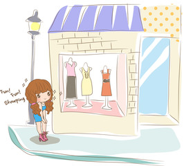 Illustration of shopping