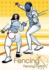 Illustration of fencing