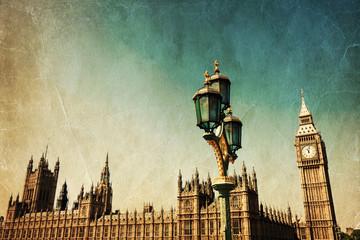 Fotomurales - Bild von London, im nostalgischen Stil bearbeitet