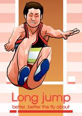 Illustration of long-jump