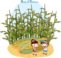 Illustration of summer