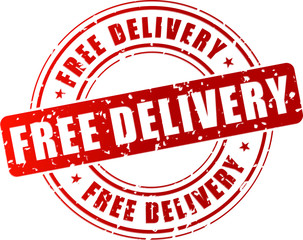 Vector free delivery stamp