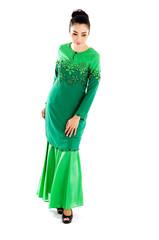 Beautiful southeast asian woman in elegant traditional dress