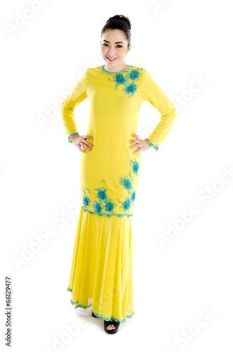 70801f888 Beautiful southeast asian woman in elegant traditional dress